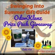 OdorKlenz Prize Pack Giveaway ~ Safe & Complete Line of Odor Elimination Products