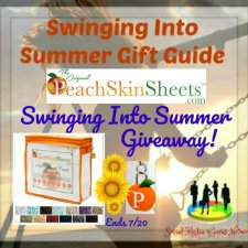 PeachSkinSheets Swinging Into Summer Giveaway