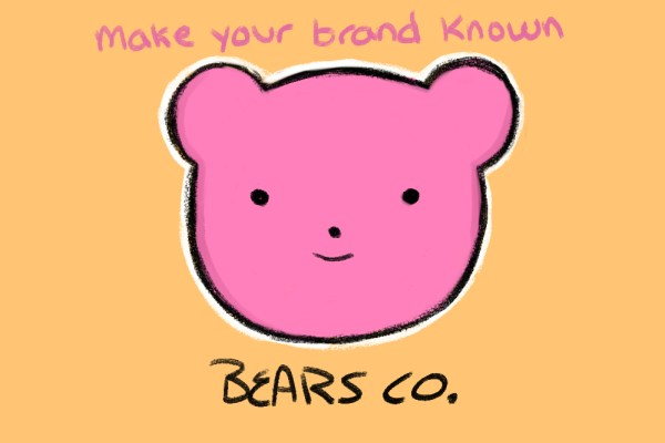 make your brand known on social media like this adorable bear