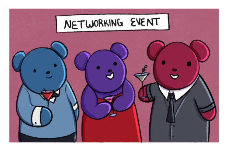 go to networking events as a way to be better involved in your community