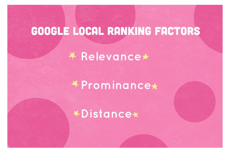 Google Local Ranking Factors include your business's relevance, prominence, and distance from your customers