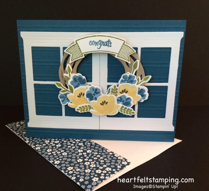Stampin Up Jar of Love congratulations card idea - Rosanne Mulhern stampinup
