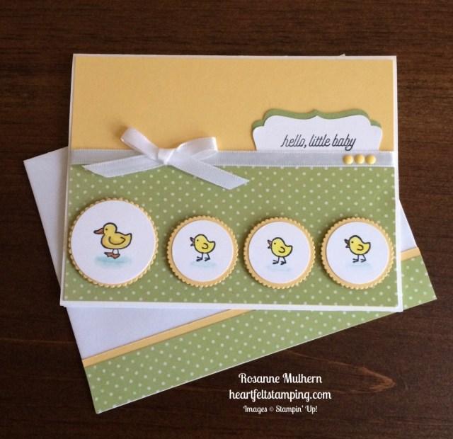 Stampin Up Barnyard Babies baby card ideas - Rosanne Mulhern stampinup
