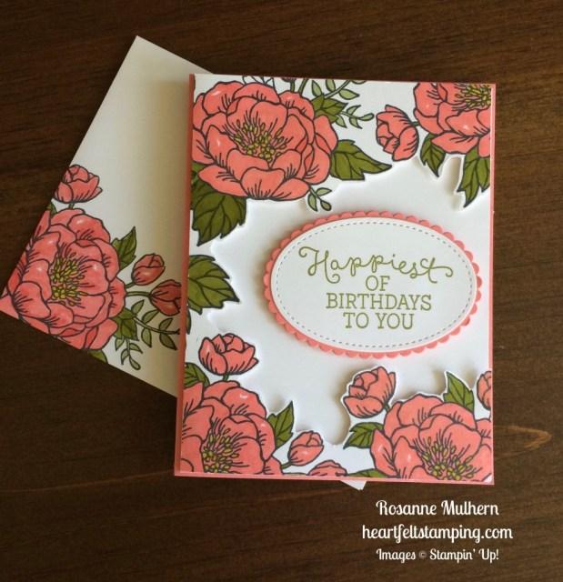 Stampin Up Birthday Blooms Birthday card - Rosanne Mulhern stampinup