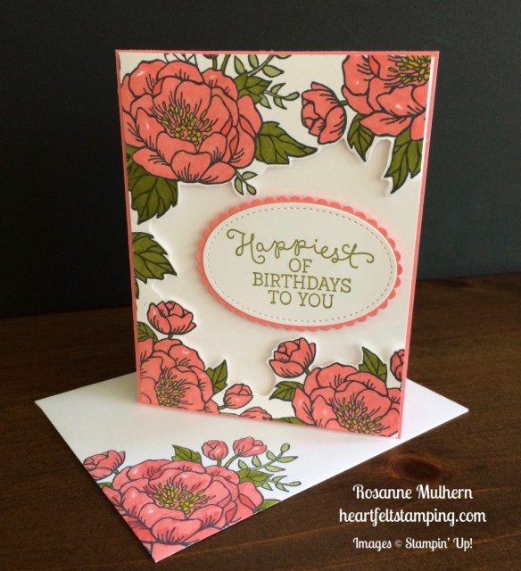 Stampin Up Birthday Blooms Birthday card idea - Rosanne Mulhern stampinup