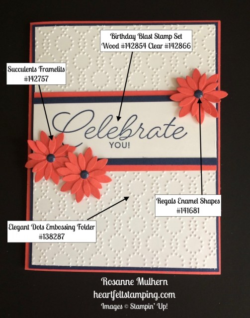 Stampin Up Birthday Blast Birthday Card Ideas - Rosanne Mulhern