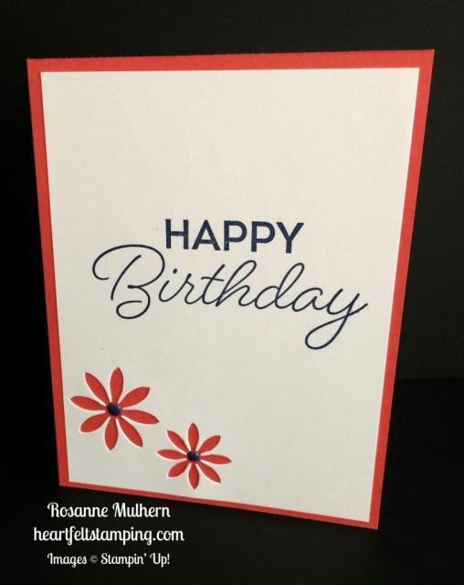 Stampin Up Birthday Blast Birthday Cards Idea - Rosanne Mulhern