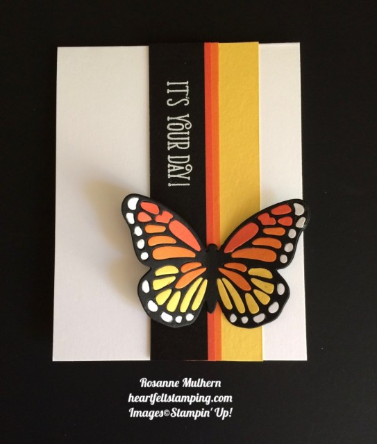 Stampin Up Bold Butterfly Birthday Card Idea - Rosanne Mulhern