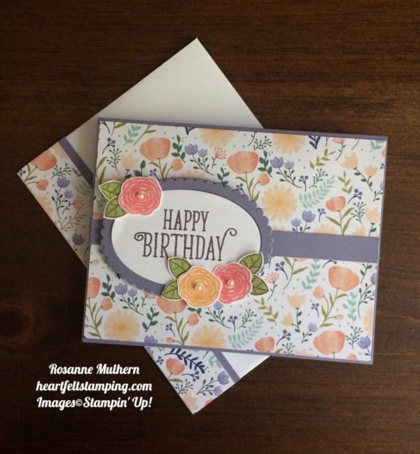 Stampin Up Happy Birthday Gorgeous Birthday Cards Ideas - Rosanne Mulhern