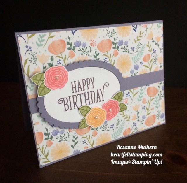 Stampin Up Happy Birthday Gorgeous - Rosanne Mulhern