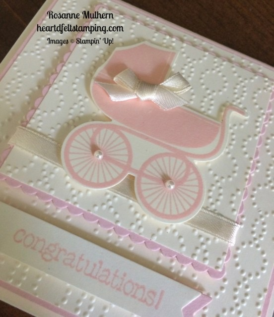 Stampin Up Sweet Baby Girl Baby Card - Rosanne Mulhern