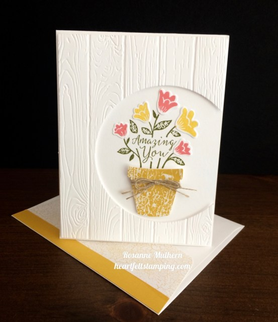 Stampin Up Grown With Love friendship card - Rosanne Mulhern stampinup