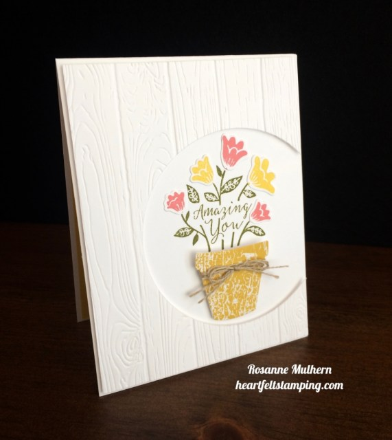 Stampin Up Grown with Love friendship cards idea - Rosanne Mulhern stampinup
