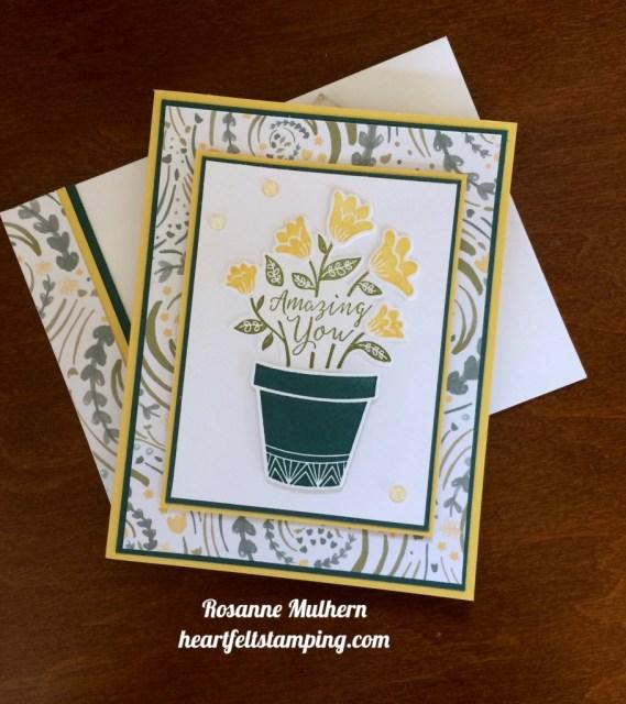 ampin Up Grown with Love Friendship Card Idea - Rosanne Mulhern