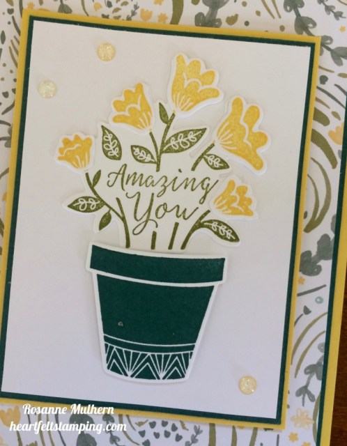 Stampin Up Grown with Love Friendship Card Ideas - Rosanne Mulhern
