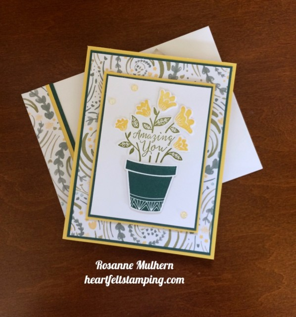 Stampin Up Grown with Love Friendship Cards Idea - Rosanne Mulhern