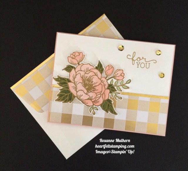 Stampin Up Birthday Blooms Birthday Card - Rosanne Mulhern