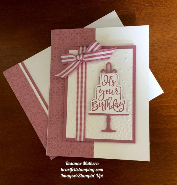 Stampin Up Celebration Time Birthday Cards - Rosanne Mulhern