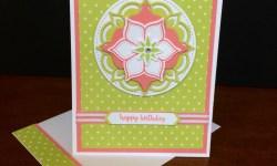 Stampin Up Eastern Beauty Bundle Birthday Card - Rosanne Mulhern