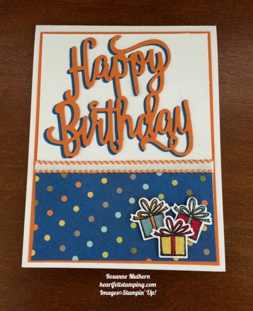 Stampin Up Happy Birthday Delivery Birthday Cards Idea - Rosanne Mulhern