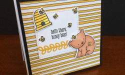 Stampin Up A Little Wild square card - Rosanne Mulhern