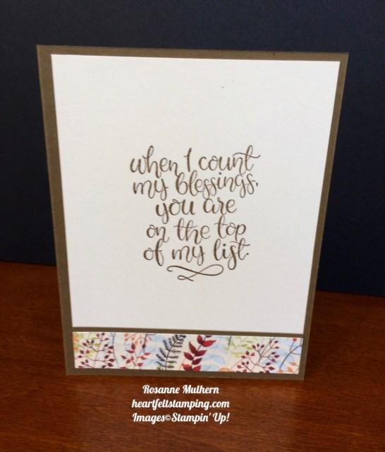 Stampin Up Jar of Love Thank you Thanksgiving Card Idea - Rosanne Mulhern