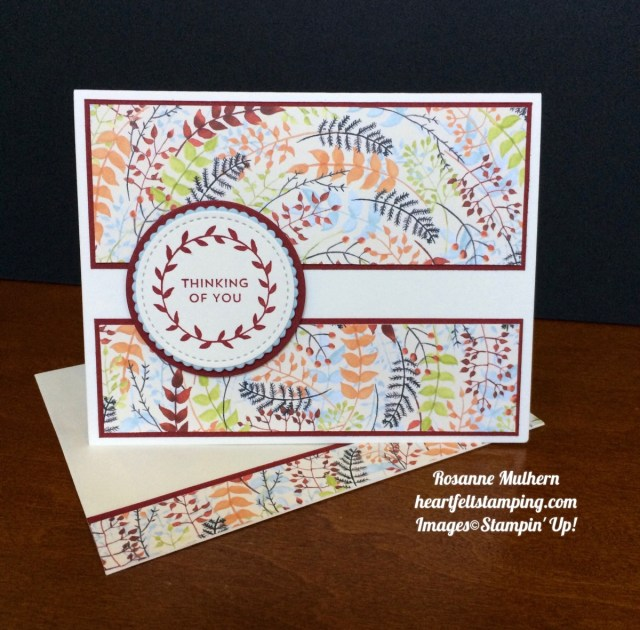 Stampin Up Painted Autumn Lots of Love Thinking of You Card - Rosanne Mulhern