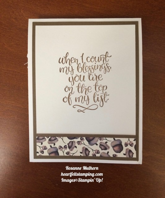 Stampin Up Count Your Blessings Friendship Card Idea- Rosanne Mulhern