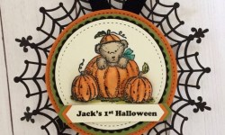 Stampin Up Halloween Tag - Rosanne Mulhern