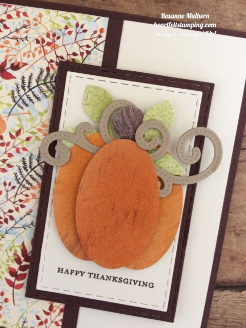 Stampin Up Painted Autumn Wood Textures Thanksgiving Card Ideas - Rosanne Mulhern