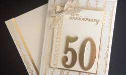 Stampin Up Large Numbers Anniversary Card - Rosanne Mulhern