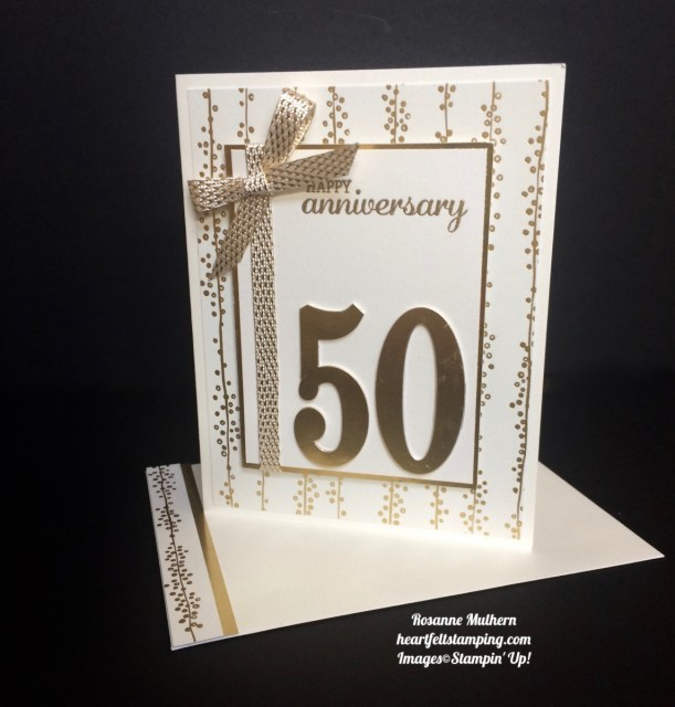 Stampin Up Large Numbers Anniversary Cards - Rosanne Mulhern
