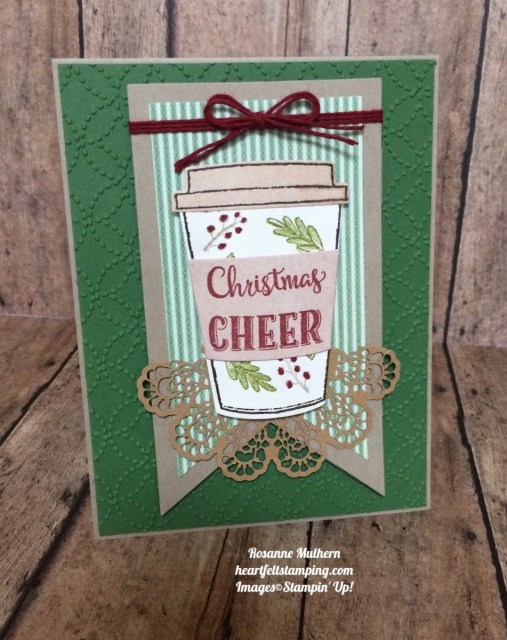 Stampin Up Merry Cafe Christmas Cards - Rosanne Mulhern