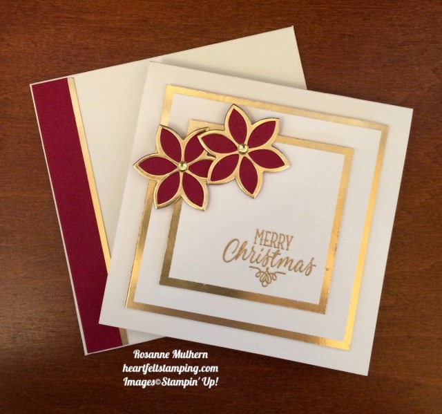 Stampin Up Quilt Builder Christmas Card - Rosanne Mulhern