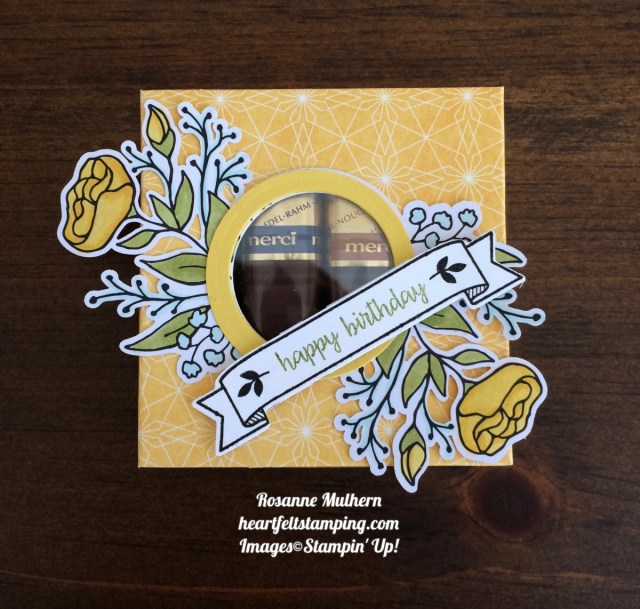 Stampin Up Lots of Happy Card Kit Daffodil Delight Candy Box - Rosanne Mulhern