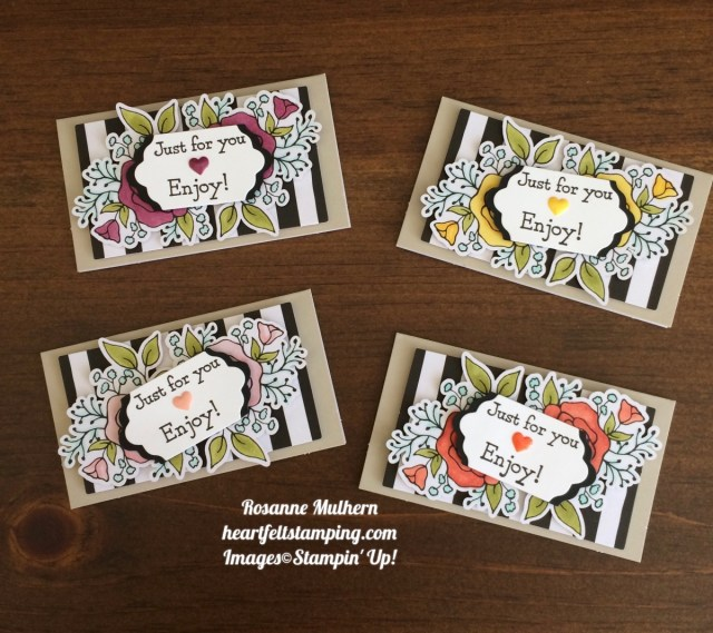 Stampin Up Lots of Happy Card Kit Petite Notes Rosanne Mulhern