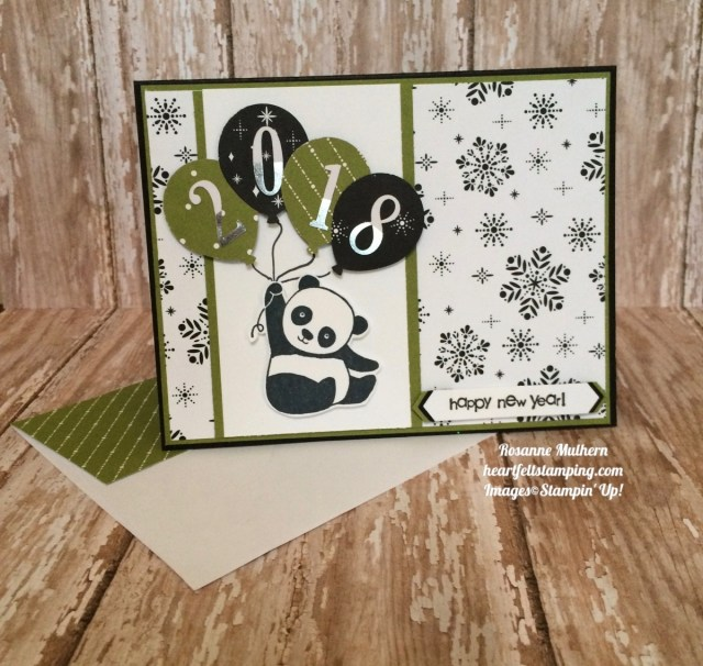 Stampin Up Party Pandas New Years Cards - Rosanne Mulhern