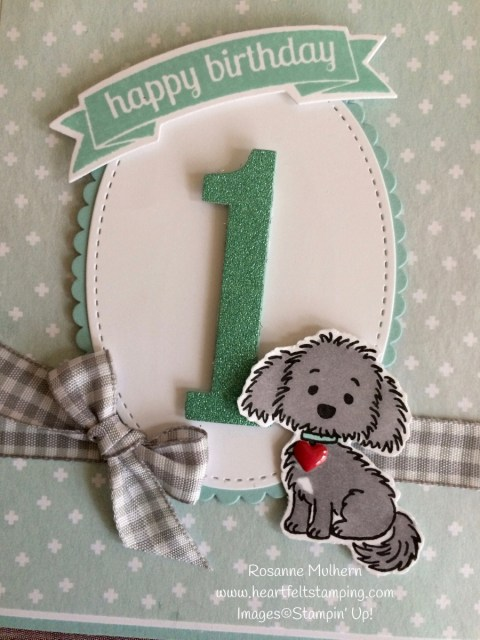 Stampin Up Bella and Friends Birthday Card Idea- Rosanne Mulhern