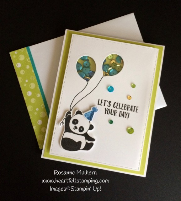 Stampin Up Party Pandas Birthday Cards Tic Tac Toe Challenge - Rosanne Mulhern