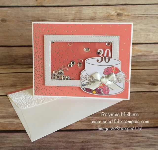 Stampin Up Sweet Soiree Shaker Birthday Cards - Rosanne Mulhern