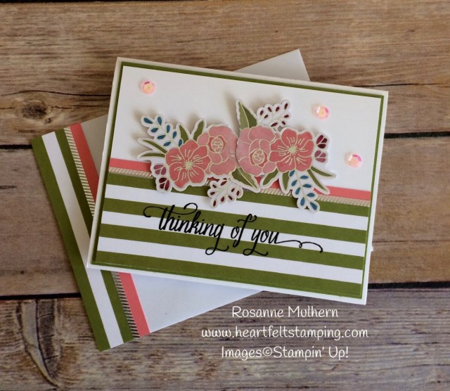 Stampin Up Sweet Soiree Thinking of You Cards- Rosanne Mulhern