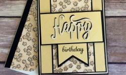 Stampin Up Happy Birthday Thinlit Birthday Card Idea - Rosanne Mulhern Heartfelt Stamping