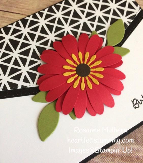 Stampin Up Daisy Punch Birthday Card Idea-Rosanne Mulhern Heartfelt Stamping