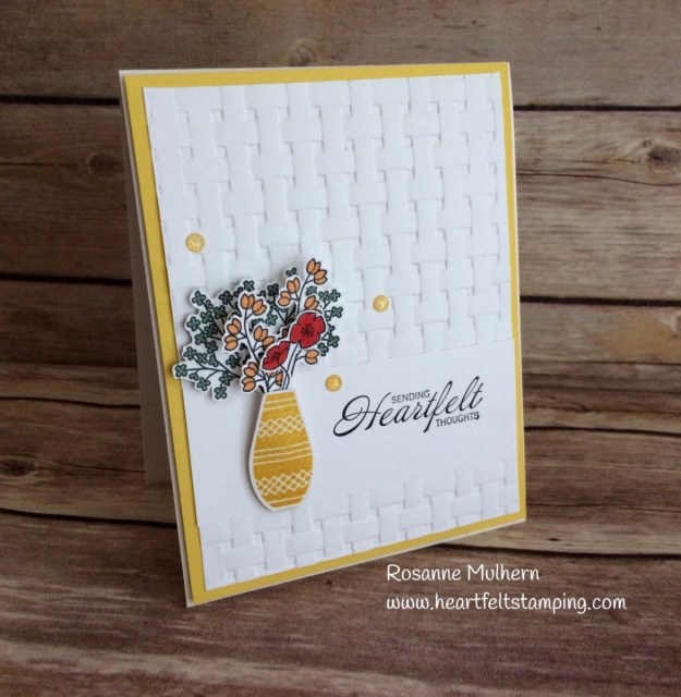 Stampin Up Varied Vases Thinking of You card ideas - Rosanne Mulhern Heartfelt Stamping