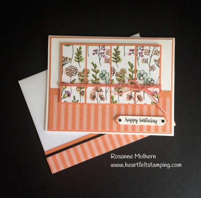 Stampin Up Share What You Love Birthday Card Idea - Rosanne Mulhern Heartfelt Stamping