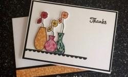 Stampin Up Varied Vases Thank You Card - Rosanne Mulhern Heartfelt Stamping