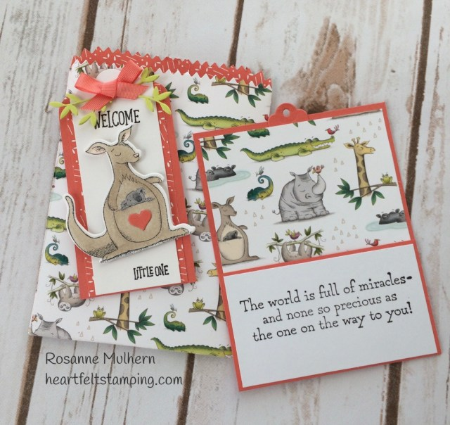 Stampin Up Animal Outing Baby Gift Card Holder -Rosanne Mulhern Heartfelt Stamping