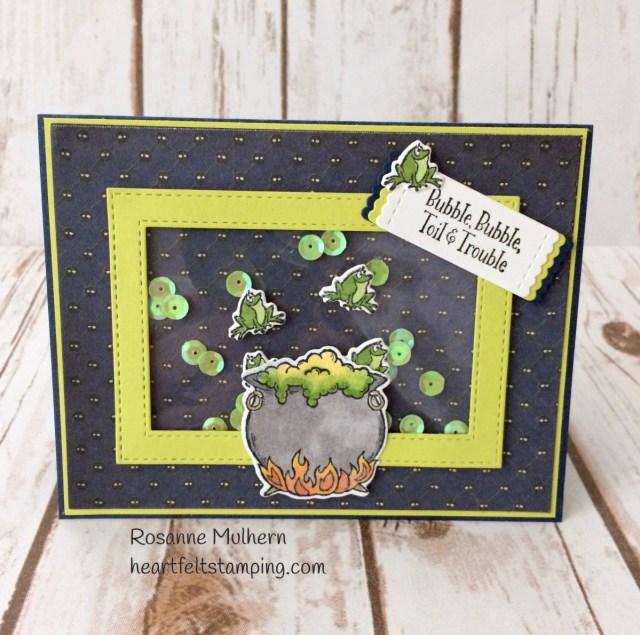 Stampin Up Cauldron Bubble Halloween Card - Rosanne Mulhern Heartfelt Stamping