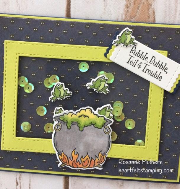 Stampin Up Cauldron Bubble Halloween Cards- Rosanne Mulhern Heartfelt Stamping