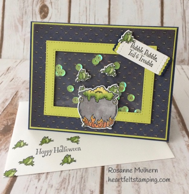 Stampin Up Cauldron Bubble Halloween Cards - Rosanne Mulhern Heartfelt Stamping